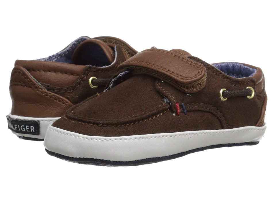 Tommy Hilfiger Kids - Lil Corey (Infant/Toddler) (Dark Brown/Cognac) Boy's Shoes