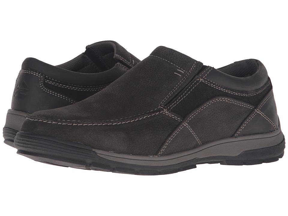 Nunn Bush - Lasalle Twin Gore Moc Toe Slip-On All Terrain Comfort (Charcoal) Men's Slip on Shoes