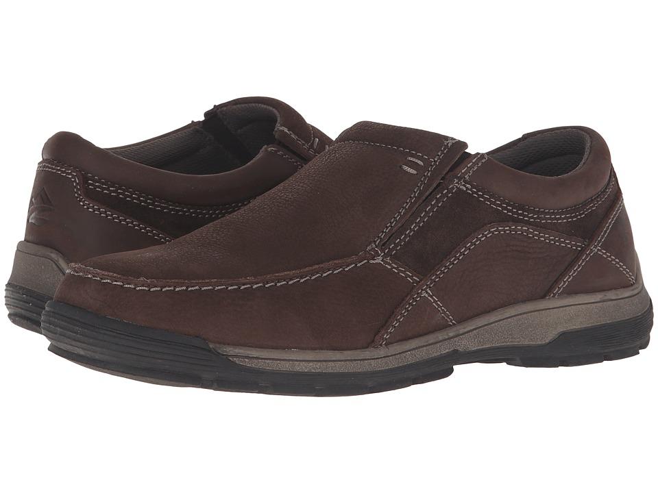 Nunn Bush - Lasalle Twin Gore Moc Toe Slip-On All Terrain Comfort (Coffee) Men's Slip on Shoes