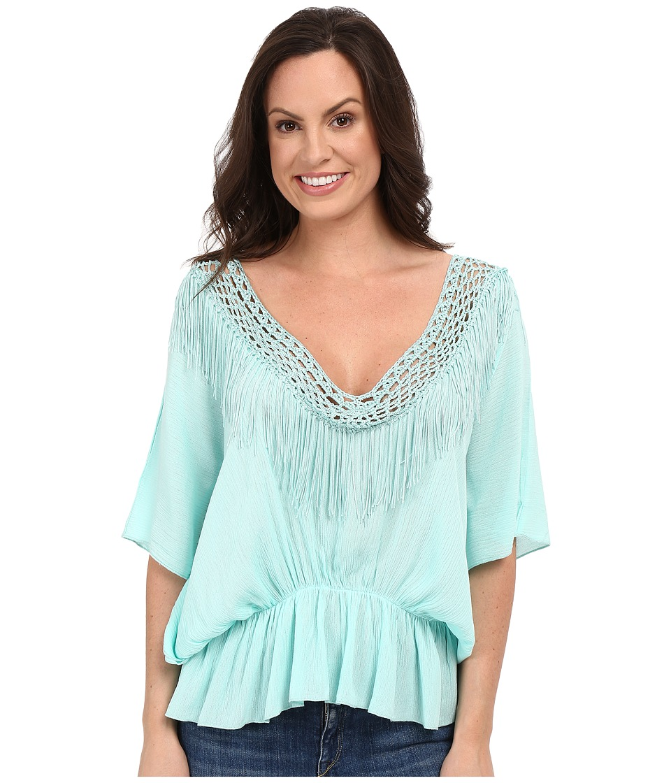 Petrol - It's a Cinch Poncho Top (Aqua) Women's Clothing