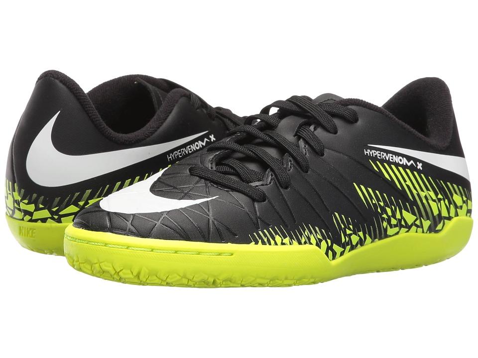 Nike Kids - Jr Hypervenom Phelon II IC Soccer (Toddler/Little Kid/Big Kid) (Black/Volt/Paramount Blue/White) Kids Shoes