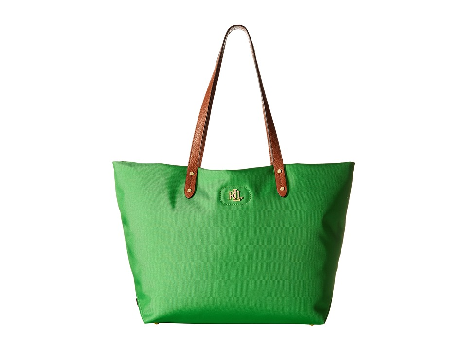 LAUREN Ralph Lauren - Bainbridge Nylon Tote (Palm Green) Tote Handbags