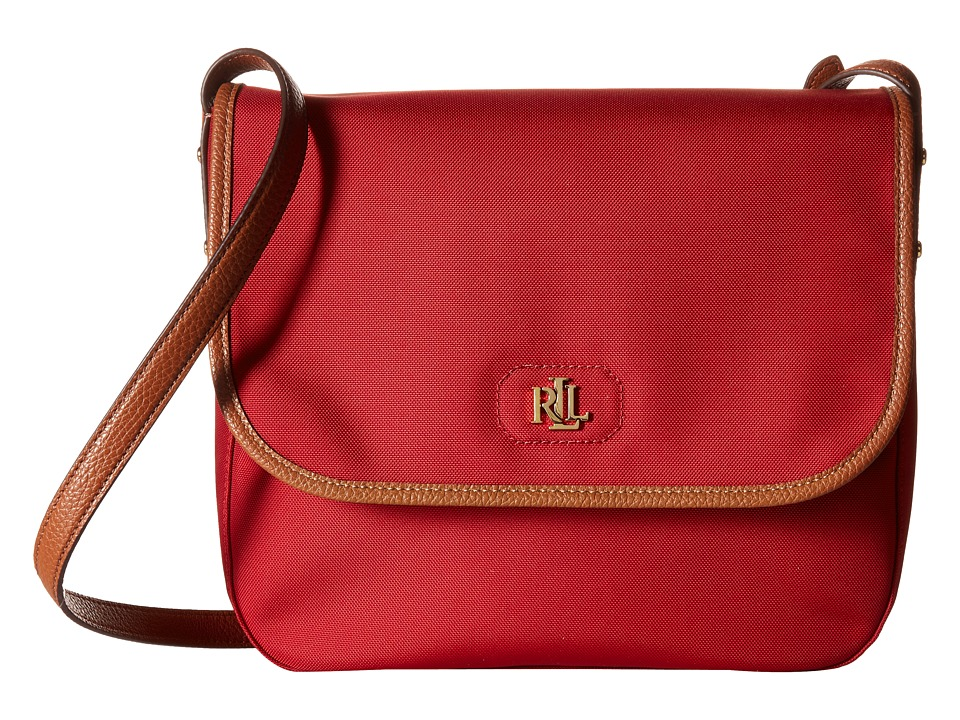 LAUREN Ralph Lauren - Bainbridge Large Flap Messenger (Red) Messenger Bags
