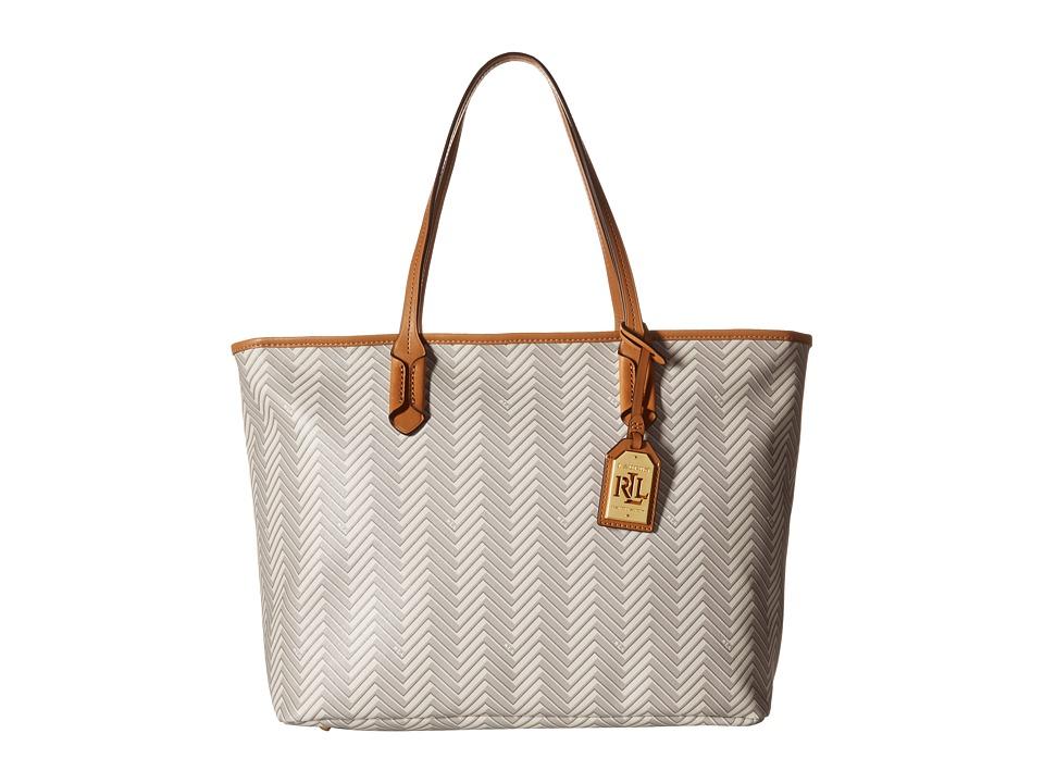 LAUREN Ralph Lauren - Boswell Classic Tote (Natural/Tan) Tote Handbags