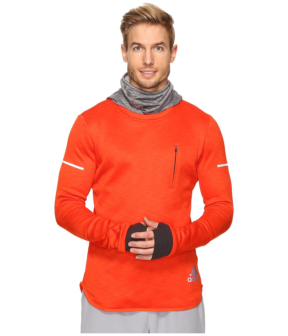 adidas - Sequencials CLIMAHEAT Hoodie (Bold Orange/Utility Black) Men's Sweatshirt