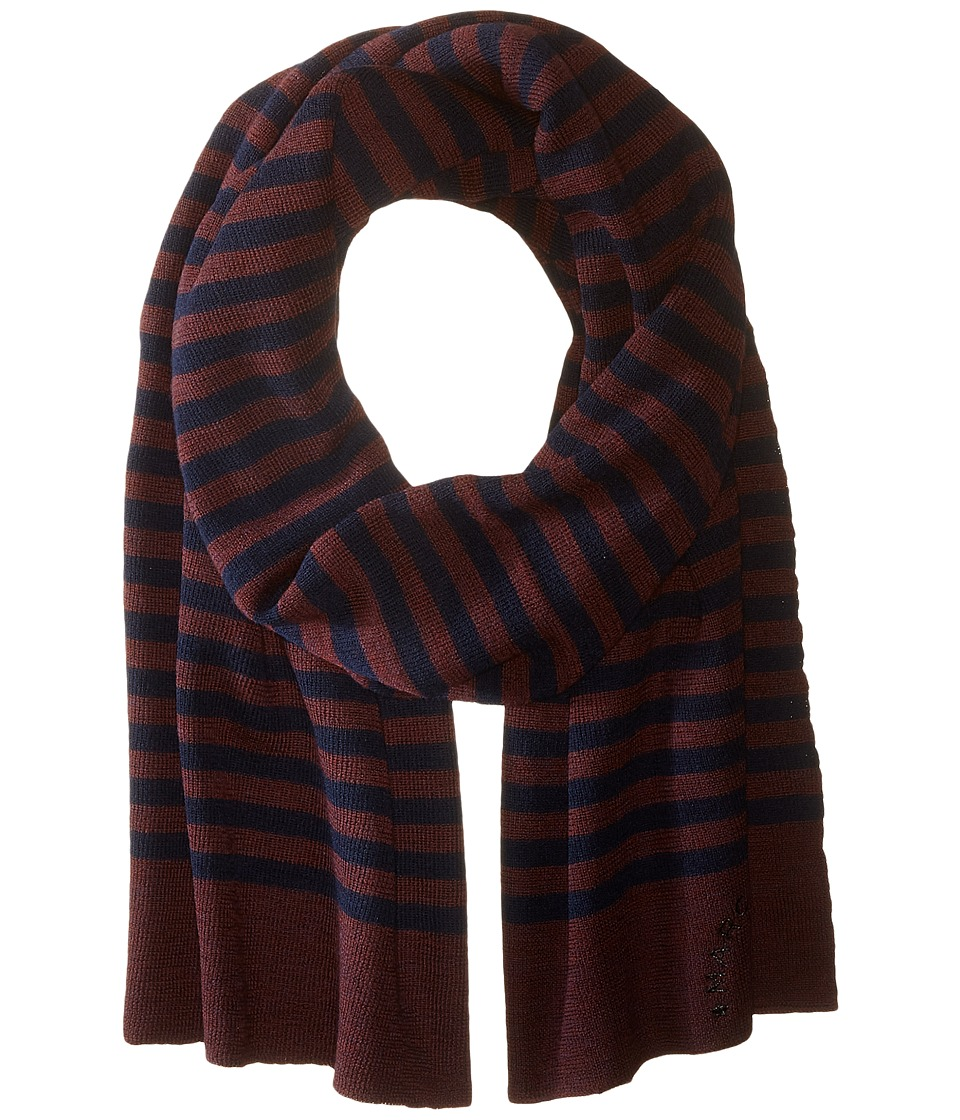 Marc Jacobs - Logo Stripe Scarf (Navy Multi) Scarves