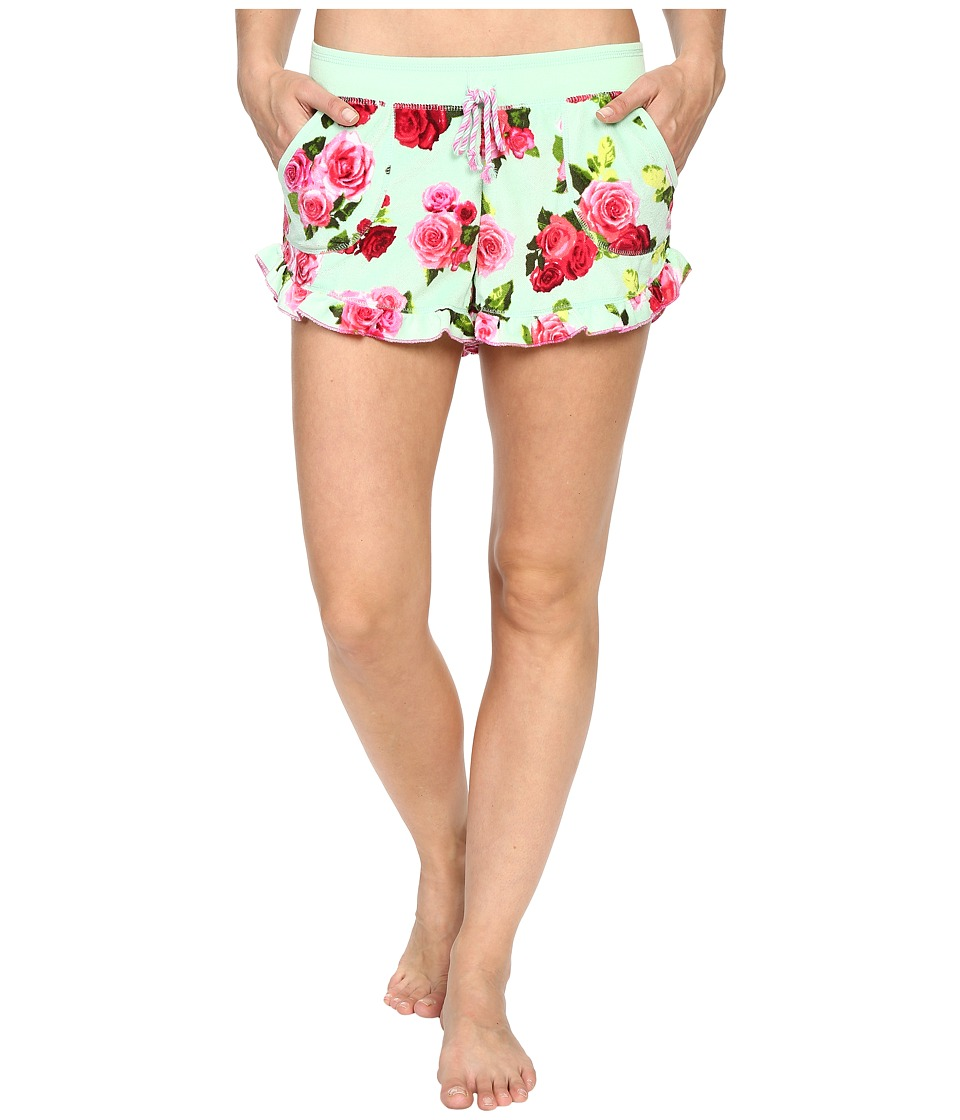 Betsey Johnson - Vintage Terry Shorts (Lagoon Of Roses) Women's Pajama plus size,  plus size fashion plus size appare