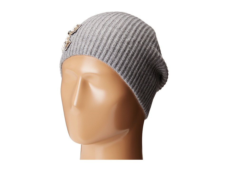Marc Jacobs - Embellished Cashmere Hat (Grey) Knit Hats
