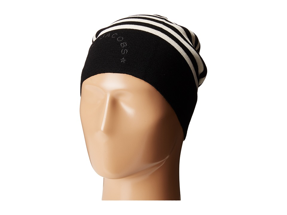 Marc Jacobs - Logo Stripe Hat (Black Multi) Knit Hats