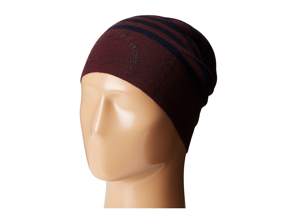 Marc Jacobs - Logo Stripe Hat (Navy Multi) Knit Hats