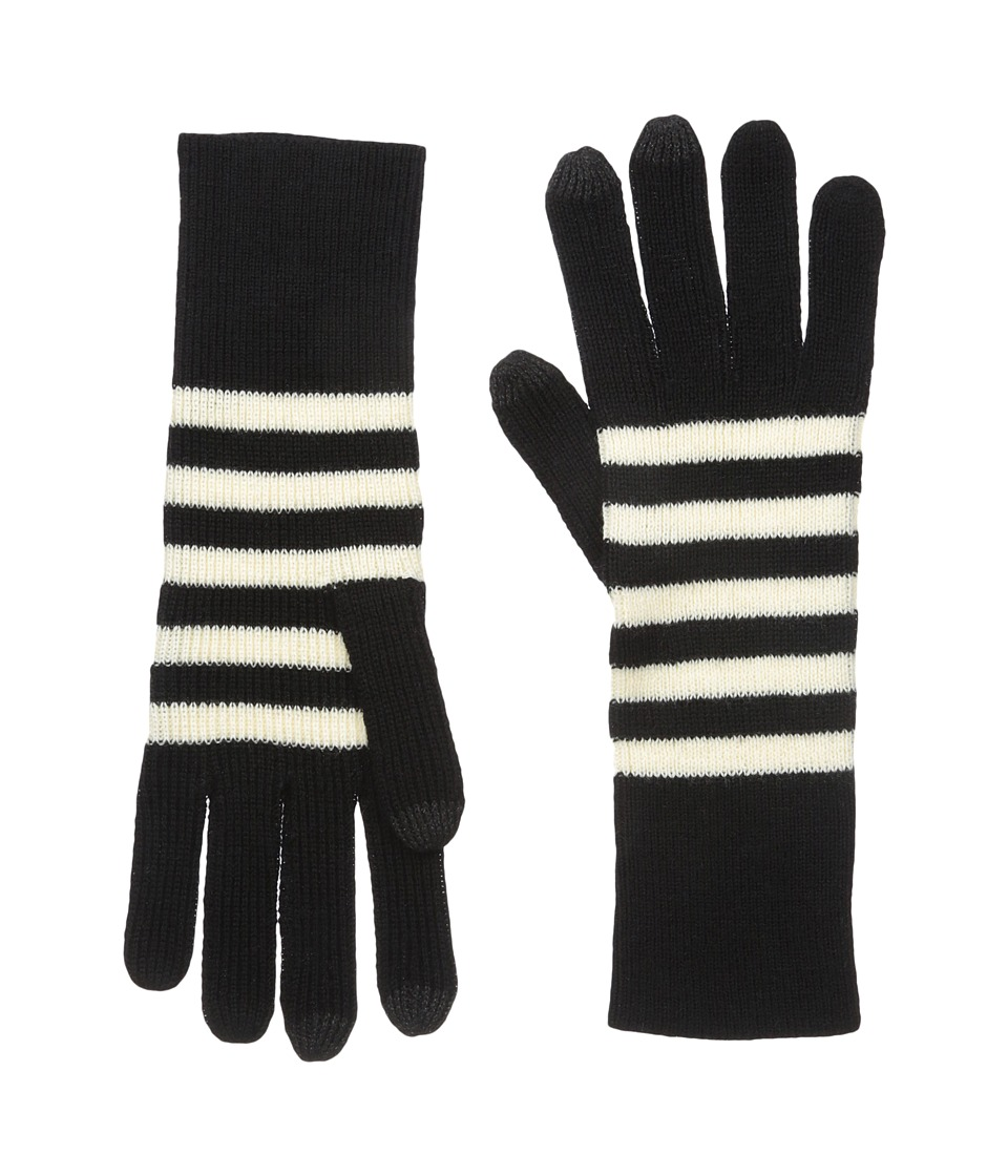 Marc Jacobs - Logo Stripe Gloves (Black Multi) Dress Gloves