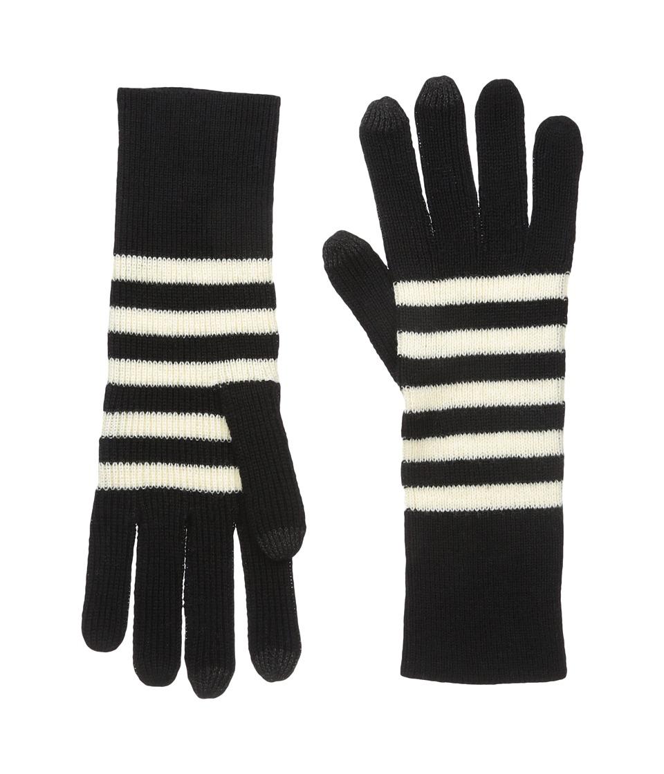 Marc Jacobs - Logo Stripe Gloves (Black Multi) Dress Gloves