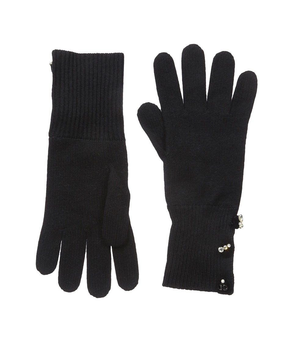 Marc Jacobs - Embellished Cashmere Gloves (Black) Dress Gloves