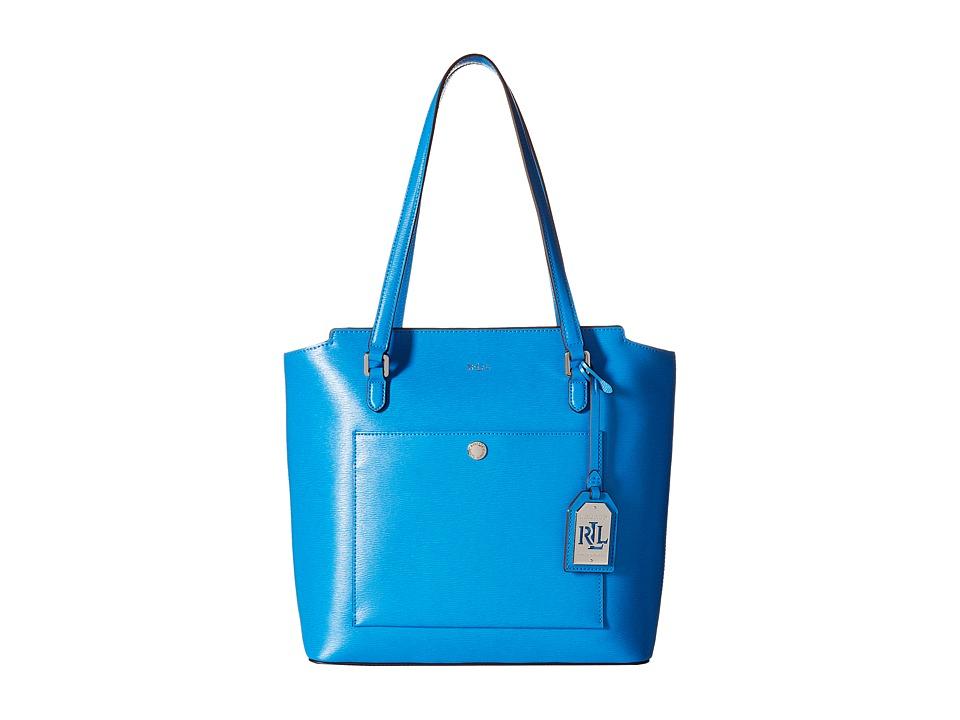 LAUREN Ralph Lauren - Newbury Mod Pocket Tote (Cyan) Tote Handbags