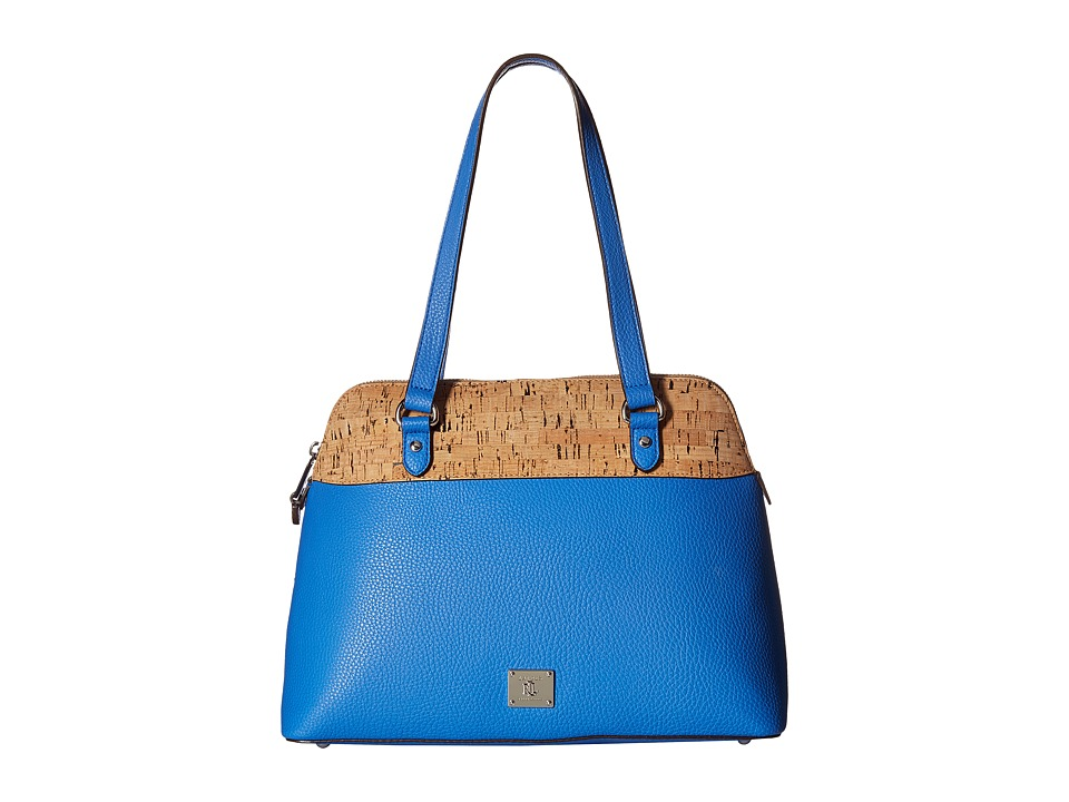 LAUREN Ralph Lauren - Hanway Dome Satchel Medium (Lighthouse Blue) Satchel Handbags