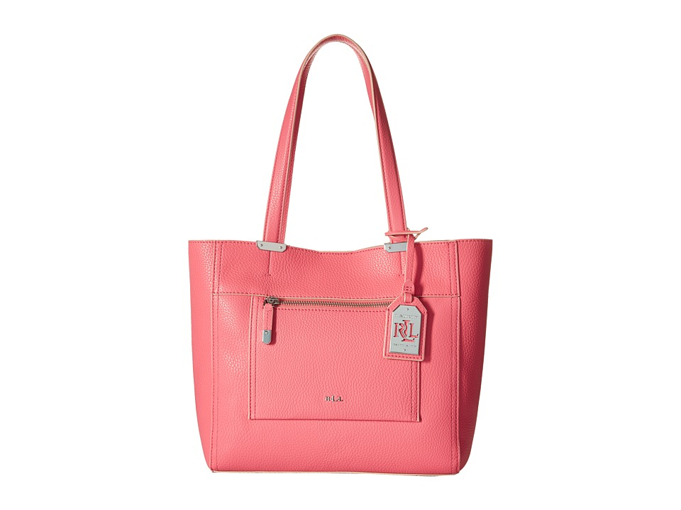 LAUREN Ralph Lauren - Paley Lorraine Medium Shopper (Coral) Handbags