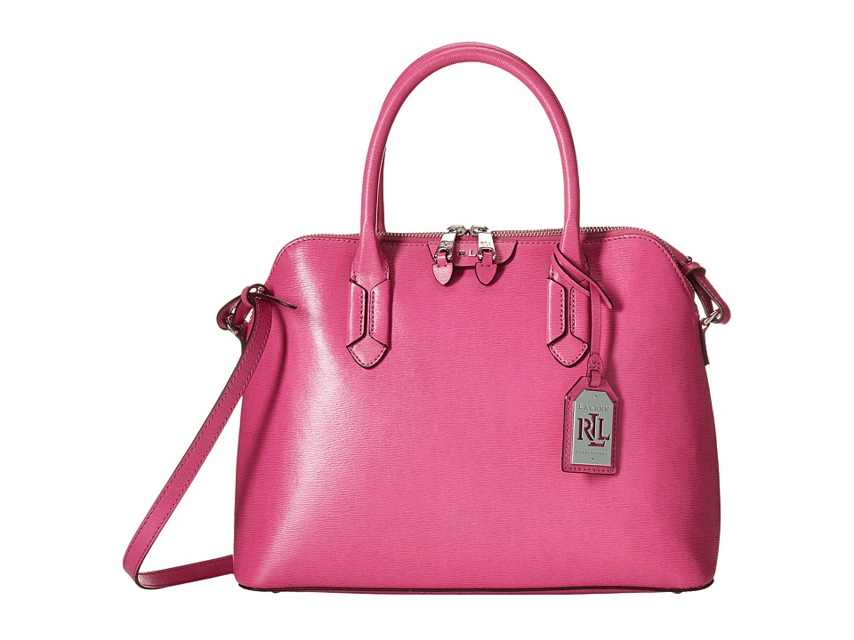 LAUREN Ralph Lauren - Tate Dome Satchel (Raspberry) Satchel Handbags