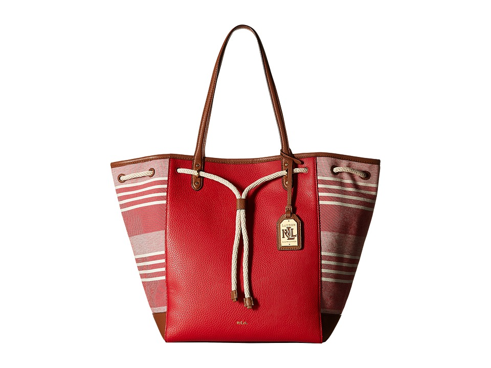 LAUREN Ralph Lauren - Oxford Large Tote (Red Mu) Tote Handbags