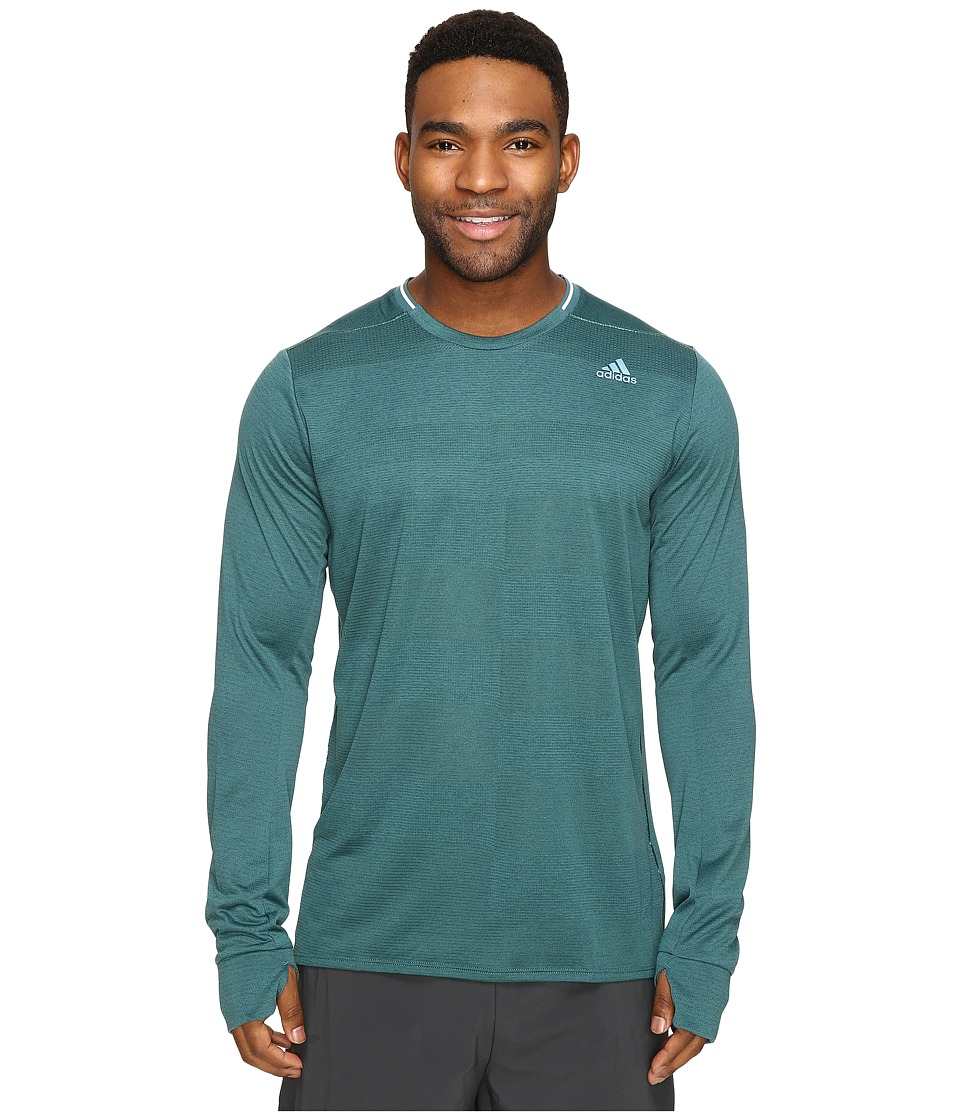 adidas - Supernova Long Sleeve Tee (Tech Green) Men's Long Sleeve Pullover