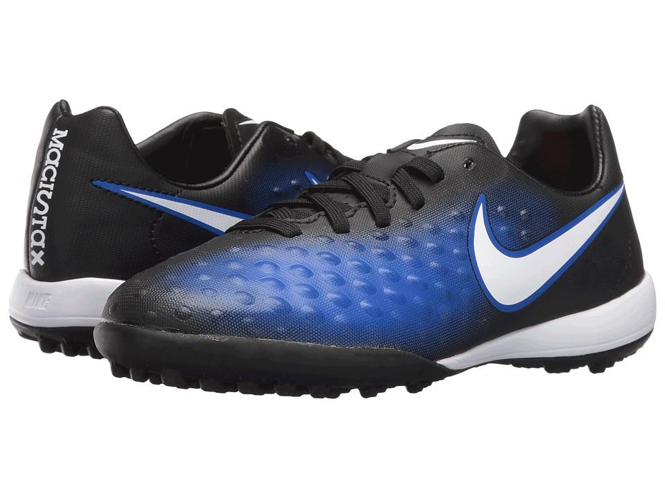 Nike Kids - Jr Magista Opus II TF Soccer (Toddler/Big Kid) (Black/Paramount Blue/Blue Tint/White) Kids Shoes