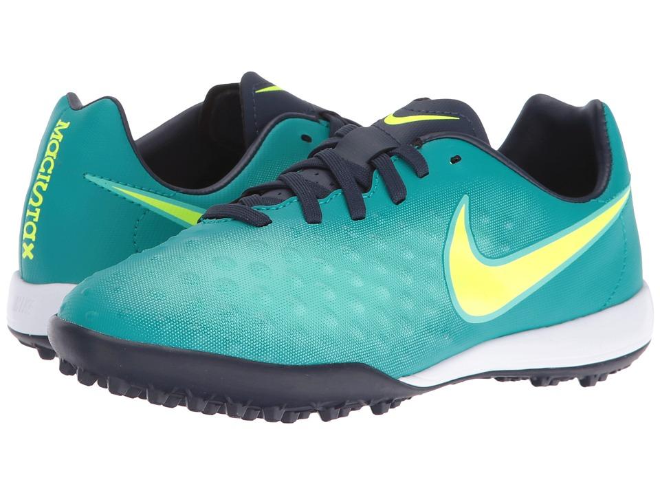 Nike Kids - Jr Magista Opus II TF Soccer (Toddler/Big Kid) (Rio Teal/Obsidian/Clear Jade/Volt) Kids Shoes