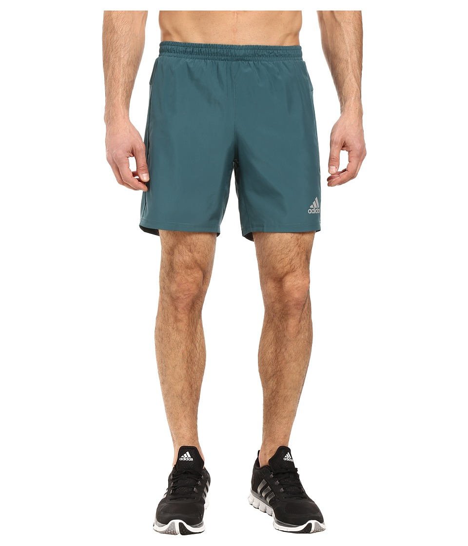 adidas - Run 7 Shorts (Tech Green) Men's Shorts