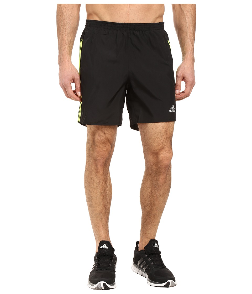 adidas - Response Shorts (Black/Solar Yellow) Men's Shorts