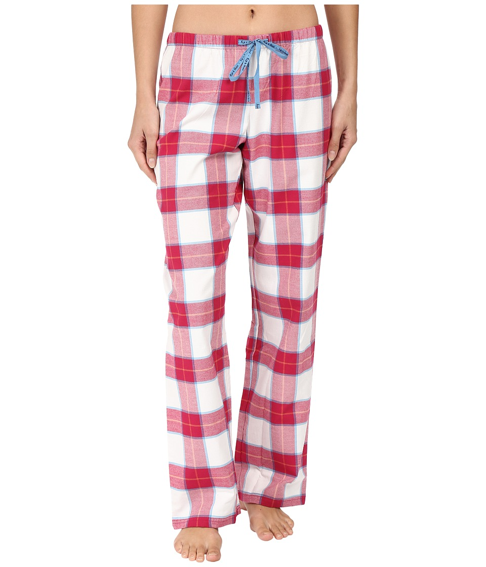 Life is good - Berry Plaid Classic Sleep Pant (Ivory/Rose Berry Plaid) Women's Pajama