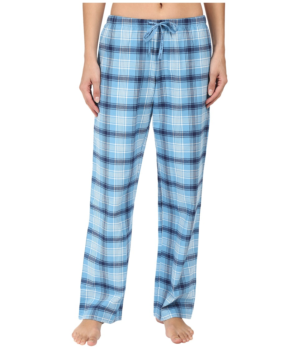 Life is good - Blue Plaid Classic Sleep Pant (Cloud Blue Plaid) Women