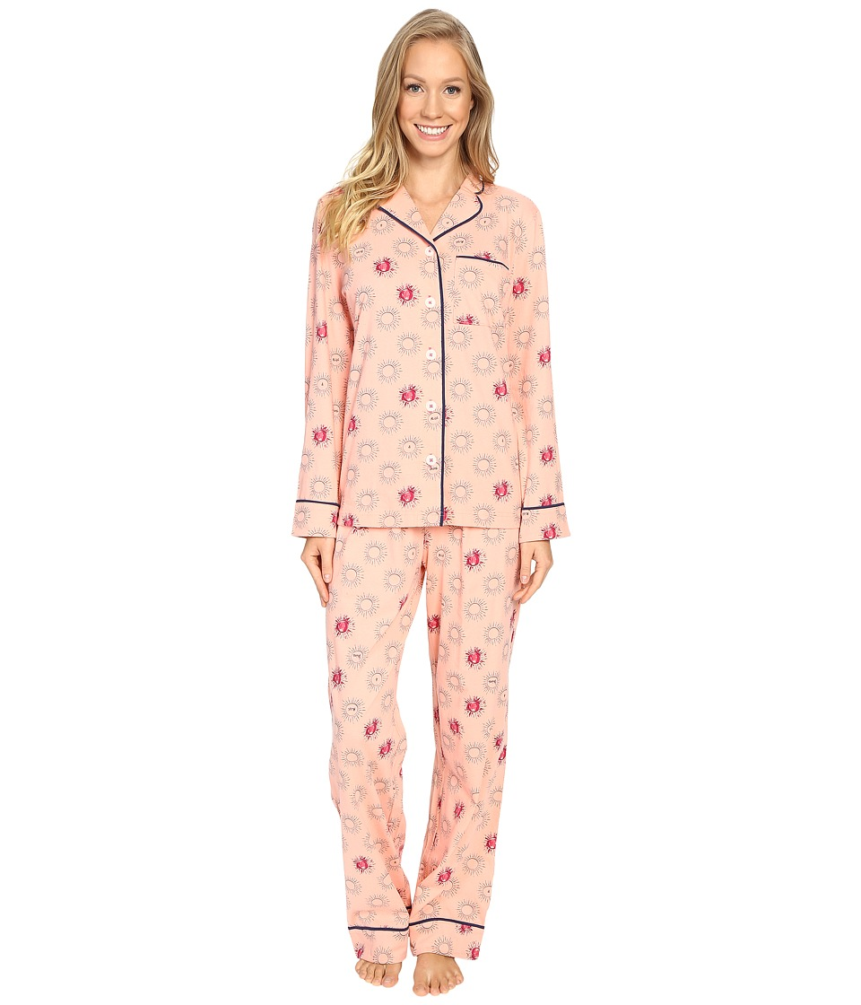 Life is good - Rise Shine Sun Jersey Sleep Set (Chalky Peach) Women's Pajama Sets