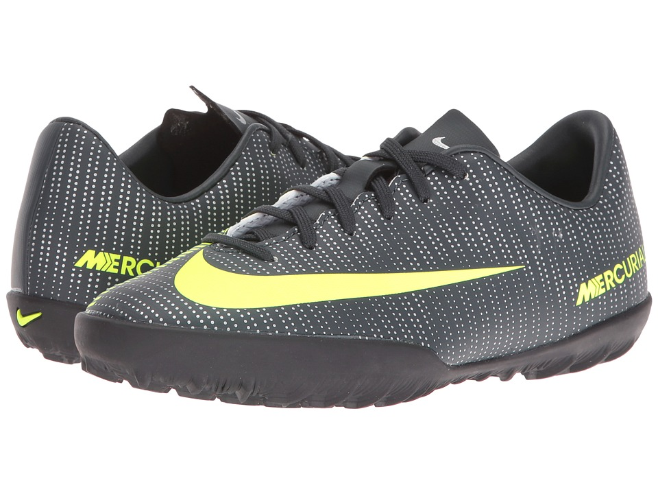 Nike Kids - Jr Mercurialx Vapor XI CR7 TF Soccer (Toddler/Little Kid/Big Kid) (Seaweed/Hasta/White/Volt) Kids Shoes