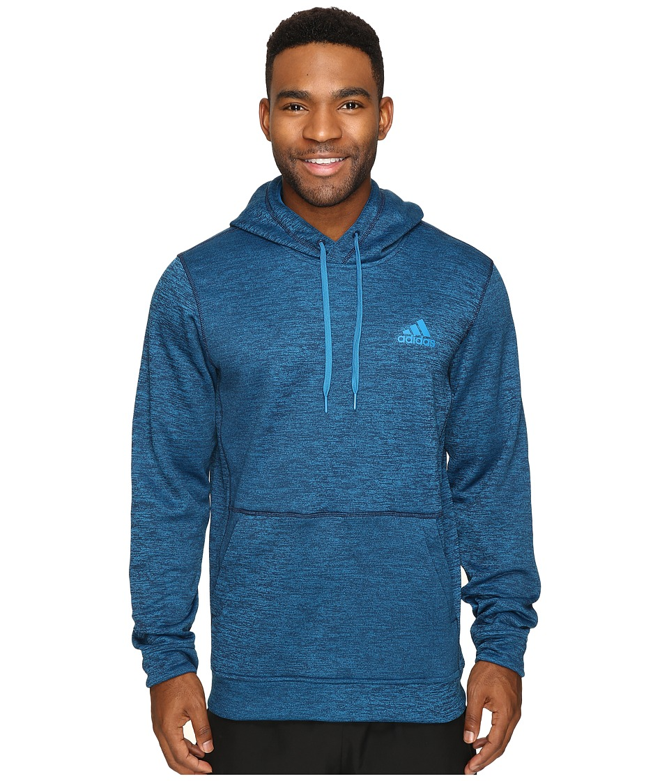 adidas - Team Issue Fleece Pullover Hoodie (Unity Blue Heather) Men's Sweatshirt