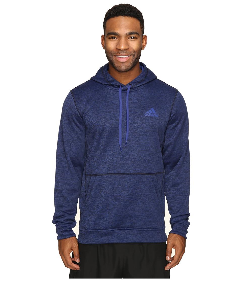 adidas - Team Issue Fleece Pullover Hoodie (Unity Ink Heather) Men's Sweatshirt