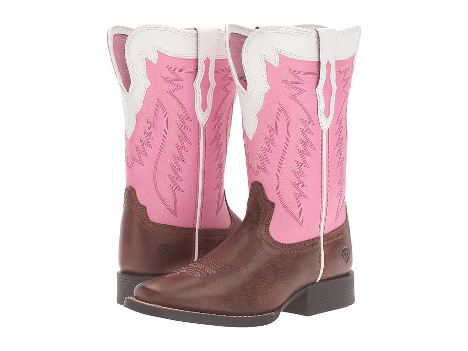 Image of Ariat Kids - Buscadero (Toddler/Little Kid/Big Kid) (Wood/Wild Watermelon) Cowboy Boots