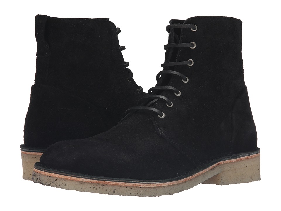 rag & bone - Military Lace Boot (Black Suede) Men's Lace-up Boots