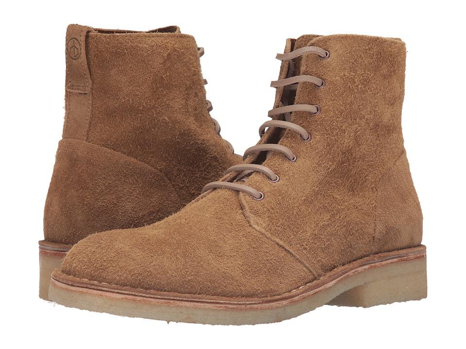 rag & bone Military Lace Boot (Tan Suede) Men