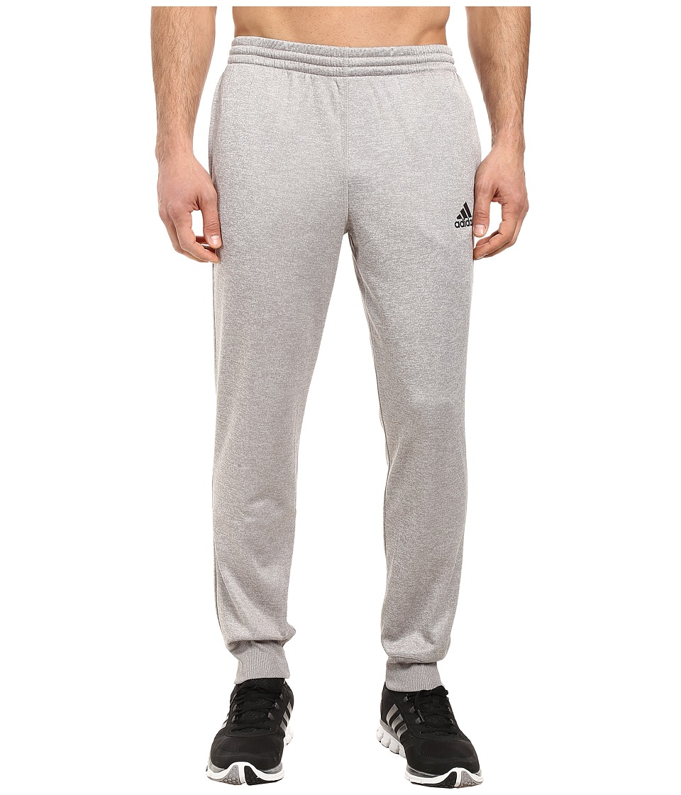 adidas - Team Issue Fleece Joggers (Light Grey Heather Solid Grey Heather/Black) Men's Fleece