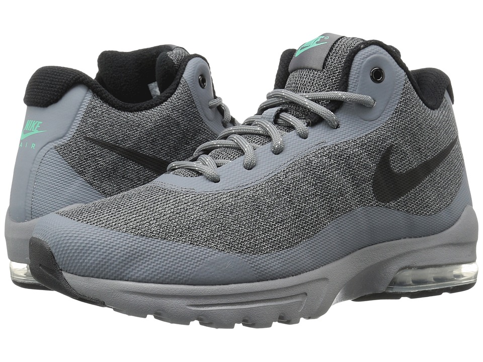 Nike - Air Max Invigor Mid (Cool Grey/Black/Green Glow) Men's Cross Training Shoes