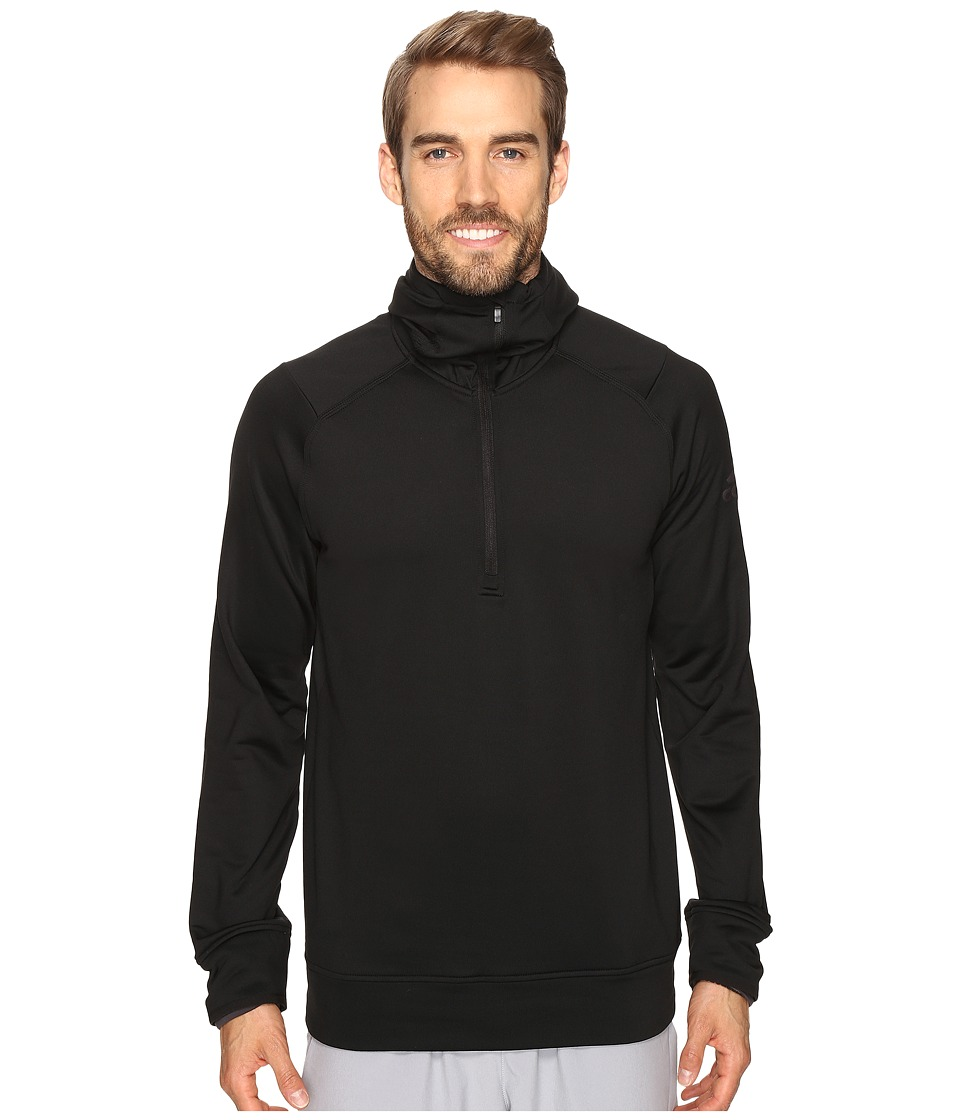 adidas - CLIMAHEAT Half Zip Hoodie (Black) Men's Sweatshirt