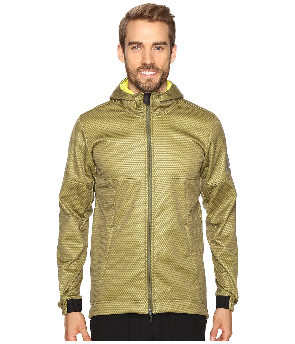 adidas - CLIMASTORM Fleece Jacket (Olive Cargo/Shock Slime) Men's Coat