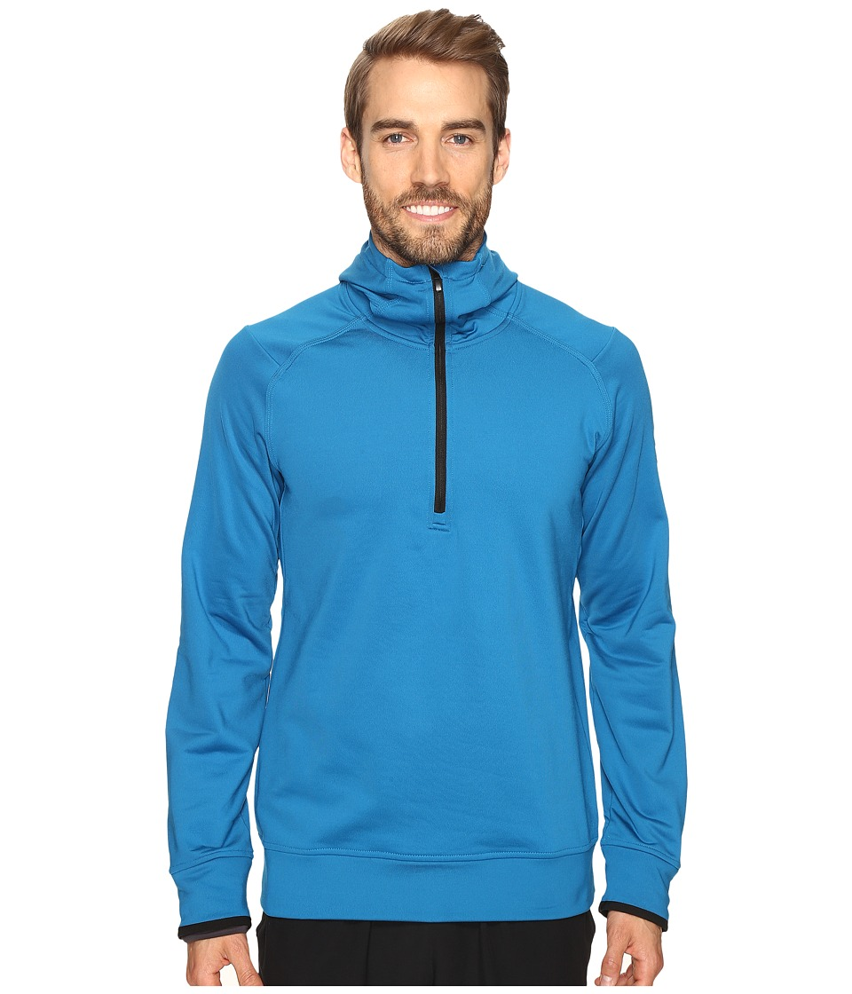 adidas - CLIMAHEAT Half Zip Hoodie (Unity Blue) Men's Sweatshirt