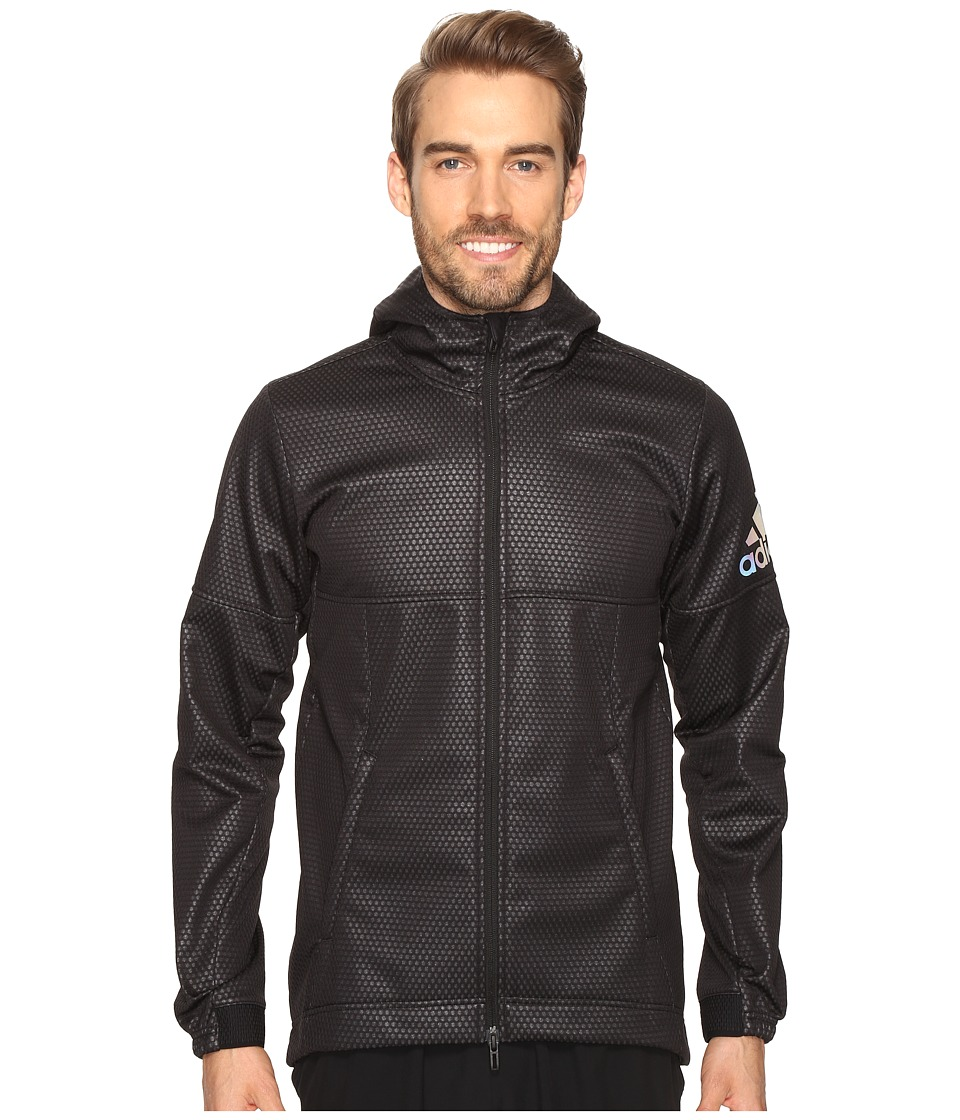 adidas - CLIMASTORM Fleece Jacket (Black/Utility Black) Men's Coat