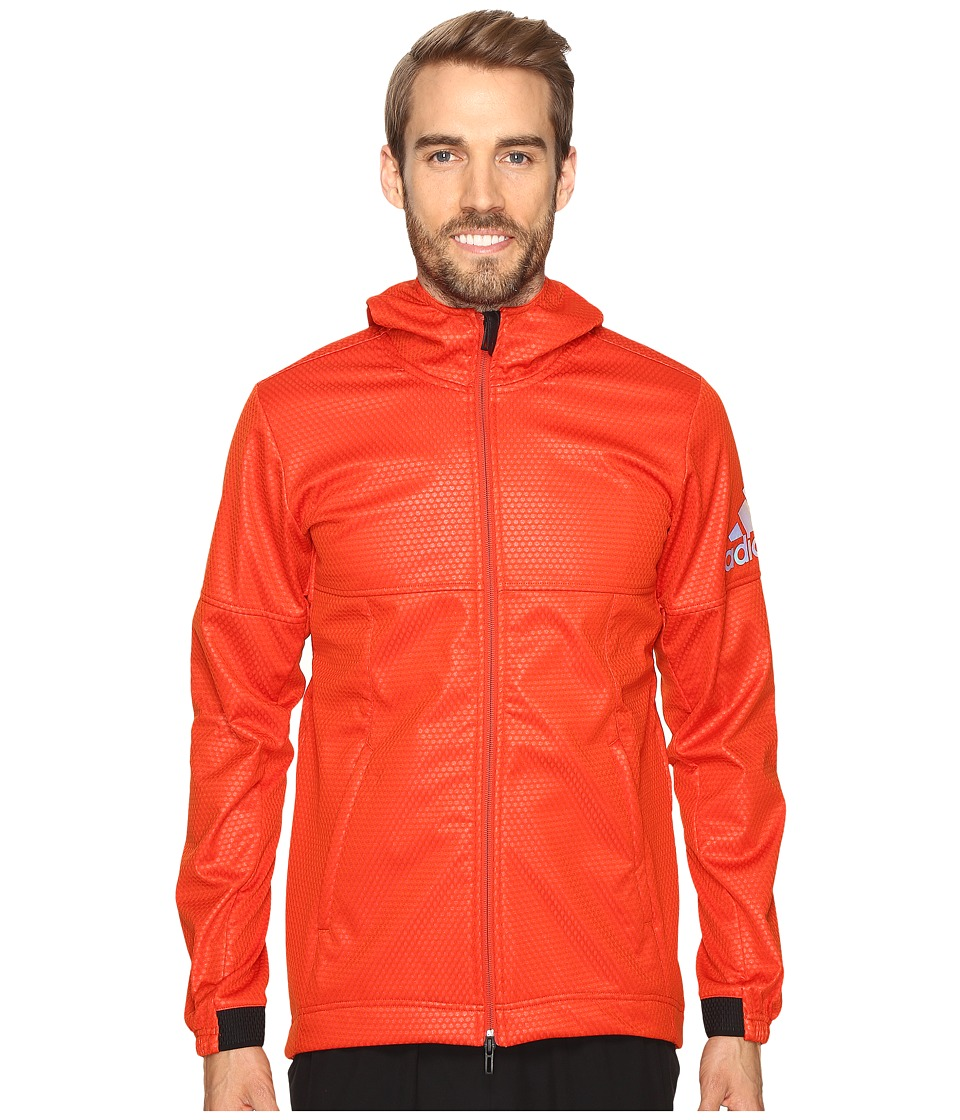 adidas - CLIMASTORM Fleece Jacket (Craft Chili/Bold Orange) Men's Coat