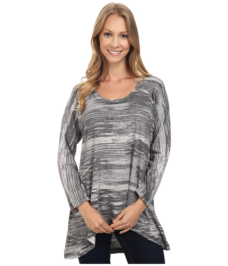 Nally & Millie - Black Grey Tunic (Multi) Women's Clothing