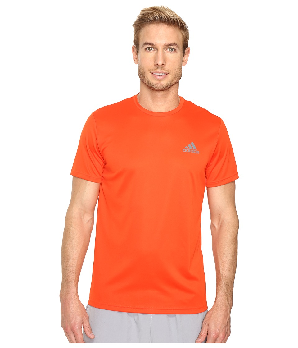 adidas - Essential Tech Crew Tee (Bold Orange/Vista Grey) Men's T Shirt