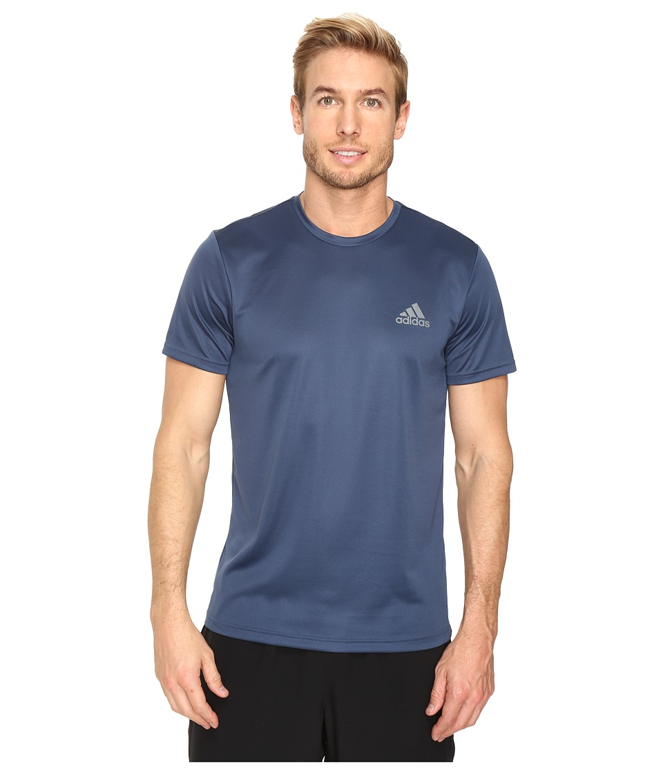 adidas - Essential Tech Crew Tee (Mineral Blue/Vista Grey) Men's T Shirt