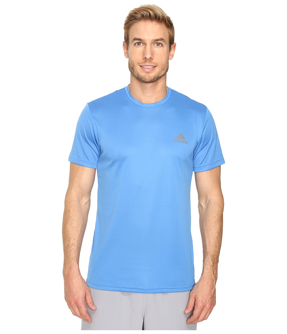 adidas Essential Tech Crew Tee (Ray Blue/Vista Grey) Men