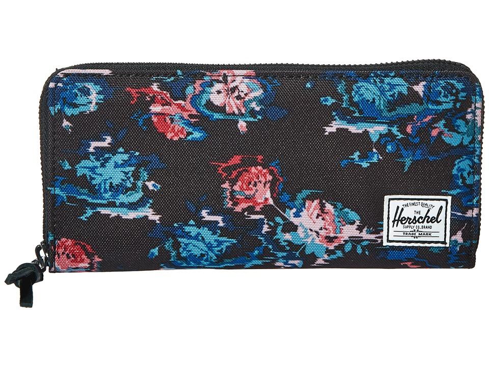 Herschel Supply Co. - Avenue with Zipper (Floral Blur) Wallet Handbags