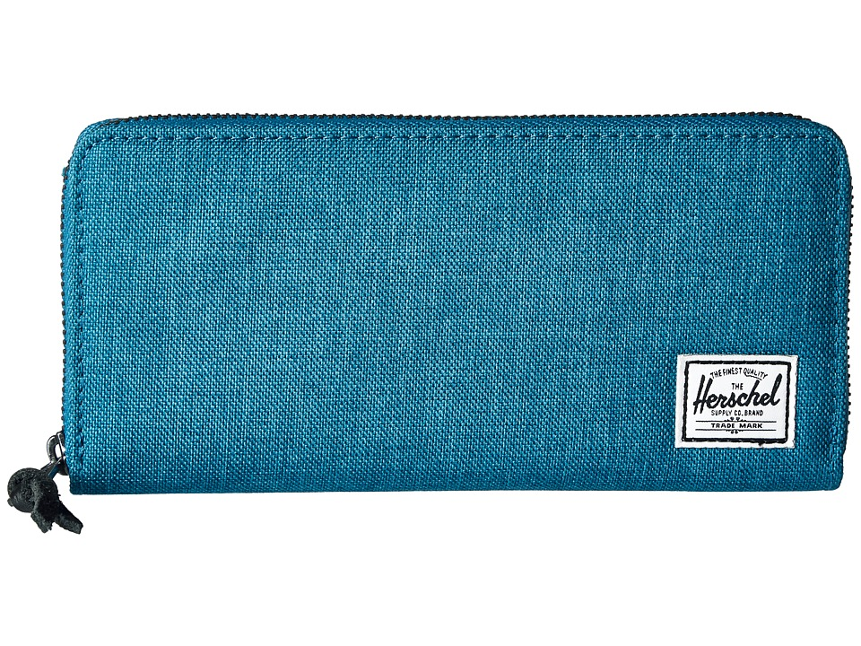 Herschel Supply Co. - Avenue with Zipper (Petrol Crosshatch) Wallet Handbags