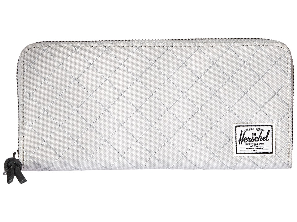 Herschel Supply Co. - Avenue with Zipper (Lunar Rock Quilted) Wallet Handbags